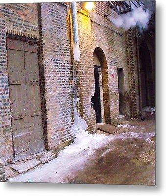 Frozen Alley Metal Print by Anna Villarreal Garbis
