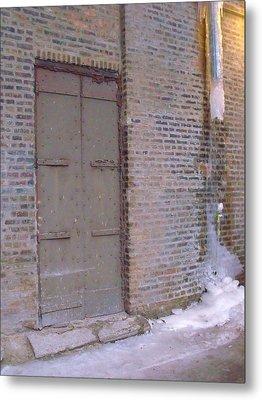 Frozen Alley II Metal Print by Anna Villarreal Garbis