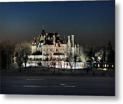 Frozen Boldt Castle Metal Print by Lori Deiter