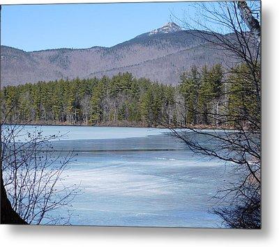 Frozen Lake Chocorua Metal Print