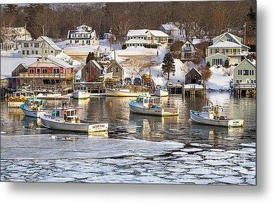 Frozen New Harbor Metal Print by Benjamin Williamson