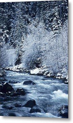 Frozen Salt Creek Metal Print by Greg Vaughn - Printscapes