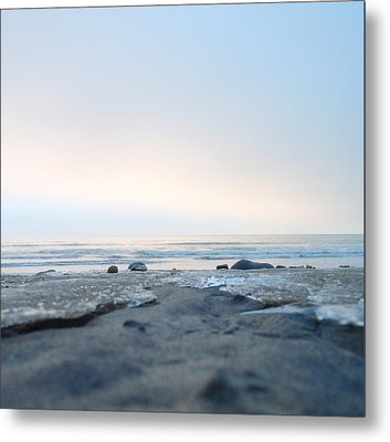 Metal Print featuring the photograph Frozen Sands by Mira Cooke
