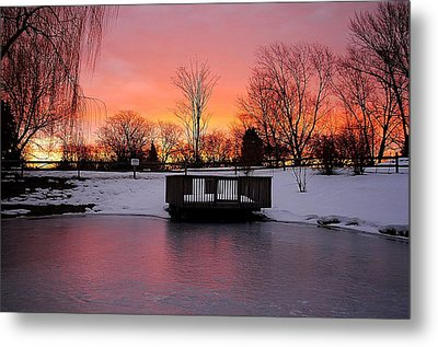 Frozen Sunrise Metal Print by Frozen in Time Fine Art Photography