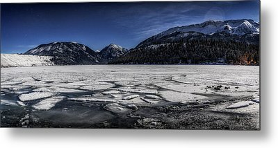 Metal Print featuring the photograph Frozen Wallowa Lake by Cat Connor
