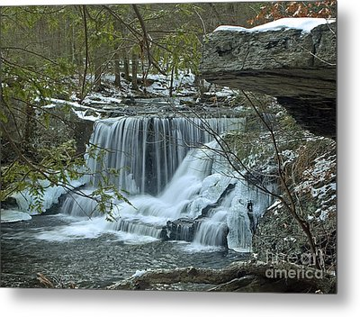 Frozen Waterfalls Metal Print