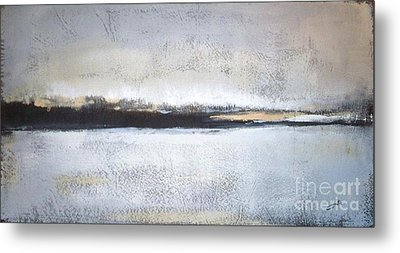 Frozen Winter Lake Metal Print