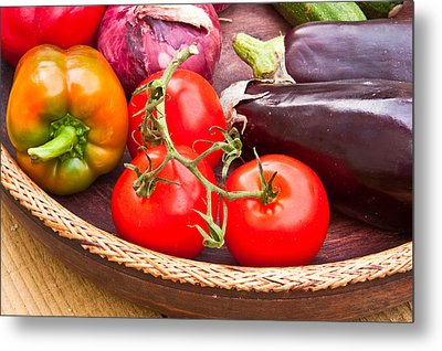 Fruit And Vegetables Metal Print by Tom Gowanlock