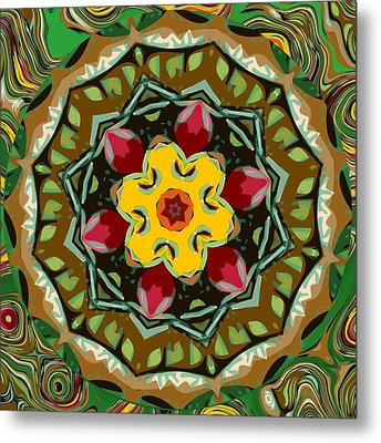 Metal Print featuring the digital art Fruit And Veggies by Shelley Bain