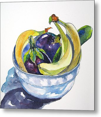 Fruit And Veggies Metal Print