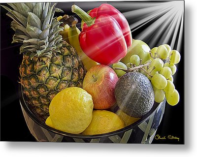 Fruit Bowl Metal Print by Chuck Staley