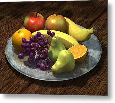 Fruit Bowl Metal Print by Martin Davey