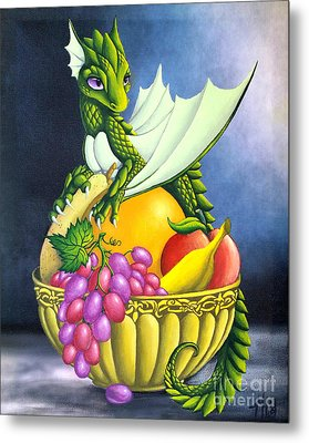 Fruit Dragon Metal Print