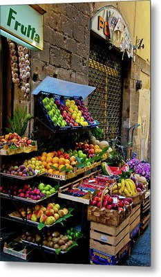 Metal Print featuring the photograph Fruit Stand  by Harry Spitz