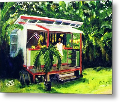 Fruit Stand North Shore Oahu Hawaii #163 Metal Print by Donald k Hall