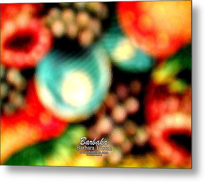 Metal Print featuring the photograph Fruit Sticker by Barbara Tristan