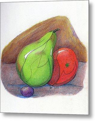 Fruit Still 34 Metal Print by Loretta Nash