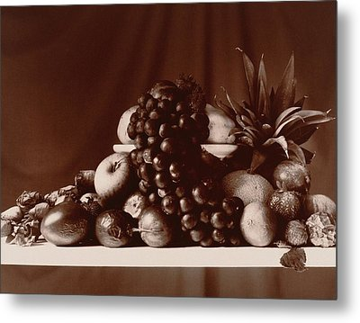 Fruit Still Life Metal Print by Elspeth Ross