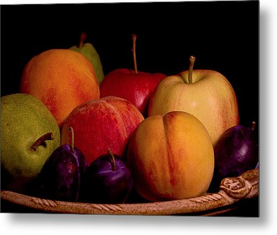 Fruit Still Life Metal Print by Marion McCristall