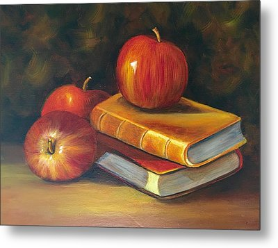 Metal Print featuring the painting Fruitful Afternoon by Susan Dehlinger