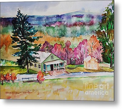 Metal Print featuring the painting Fruitlands IIi by Priti Lathia