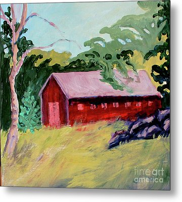 Metal Print featuring the painting Fruitlands Iv by Priti Lathia