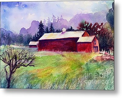 Metal Print featuring the painting Fruitlands Museum II by Priti Lathia