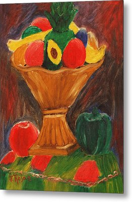 Fruits Still Life Metal Print by Jose Rojas