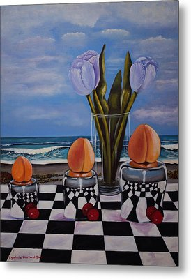 Fruity Day At The Beach Metal Print by Cynthia Bluford