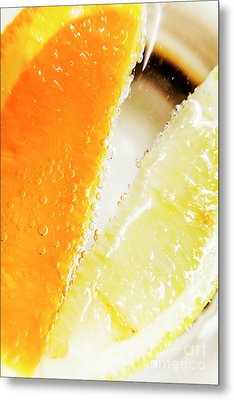Fruity Drinks Macro Metal Print by Jorgo Photography - Wall Art Gallery
