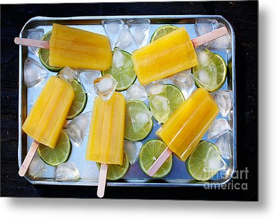 Fruity Popsicles Metal Print by Kati Molin