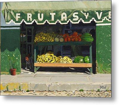 Frutas Y Metal Print by Michael Ward