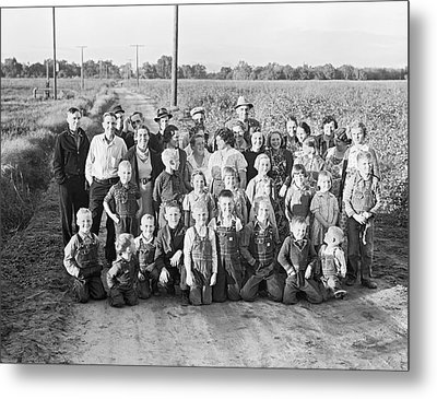 Fsa Cooperative Farm Metal Print by Dorothea Lange