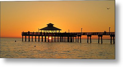 Ft. Myers Pier Metal Print