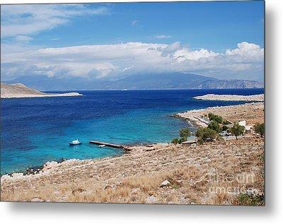 Ftenagia Beach On Halki Metal Print