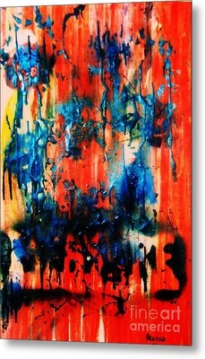 Metal Print featuring the painting Fueled By Desire by Roberto Prusso