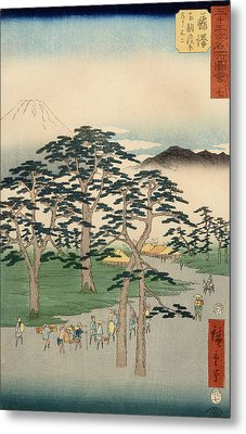 Fujisawa From The Series Fifty Three Stations Of The Tokaido Metal Print by Hiroshige