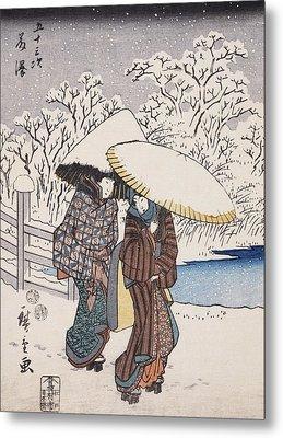 Fujisawa Metal Print by Hiroshige