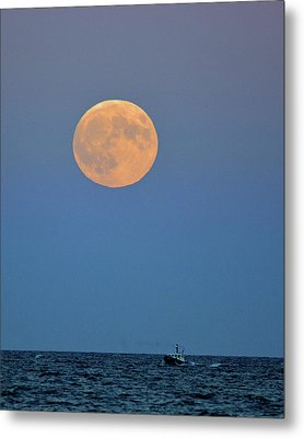 Full Blood Moon Metal Print