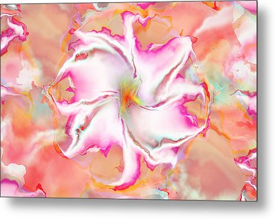 Metal Print featuring the digital art Full Bloom by Richard Ortolano