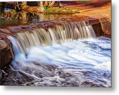Metal Print featuring the photograph Full Flow, Noble Falls, Perth by Dave Catley