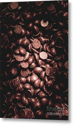 Full Frame Background Of Chocolate Chips Metal Print by Jorgo Photography - Wall Art Gallery