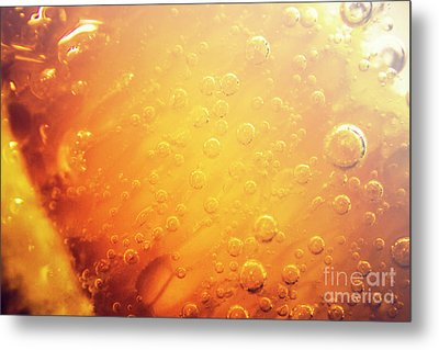 Full Frame Close Up Of Orange Soda Water Metal Print by Jorgo Photography - Wall Art Gallery