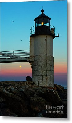 Full Moon At Marshall Point Lighthouse Metal Print by Diane Diederich
