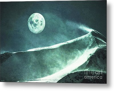 Full Moon Flurry Metal Print by KaFra Art