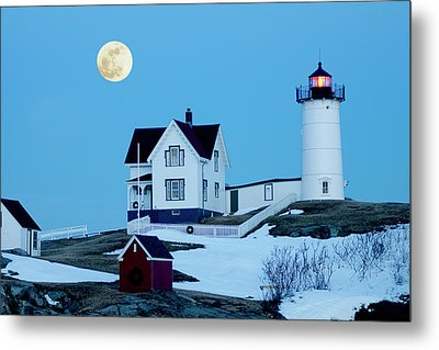 Full Moon Nubble Metal Print by Greg Fortier