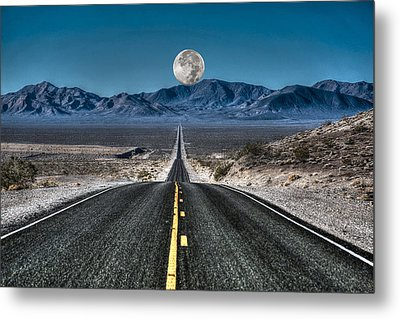 Full Moon Over Death Valley Metal Print by Donna Kennedy