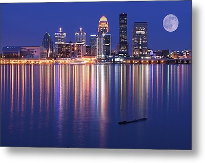 Full Moon Over Louisville Metal Print by Frozen in Time Fine Art Photography