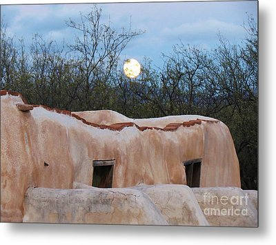 Full Moon Over Tumacacori Metal Print by Feva Fotos