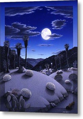 Full Moon Rising Metal Print by Snake Jagger